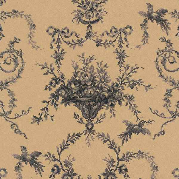 Classic Florals Toile Empire Black Sample