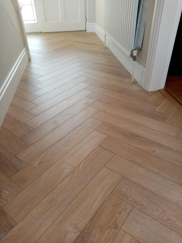 12mm Herringbone laminate to hallway
