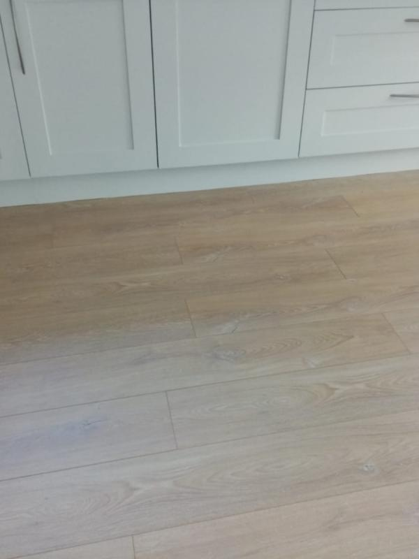 12mm laminate plank to kitchen/dining