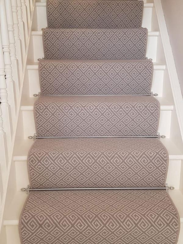 Carla Carpet on Stairs & Rods