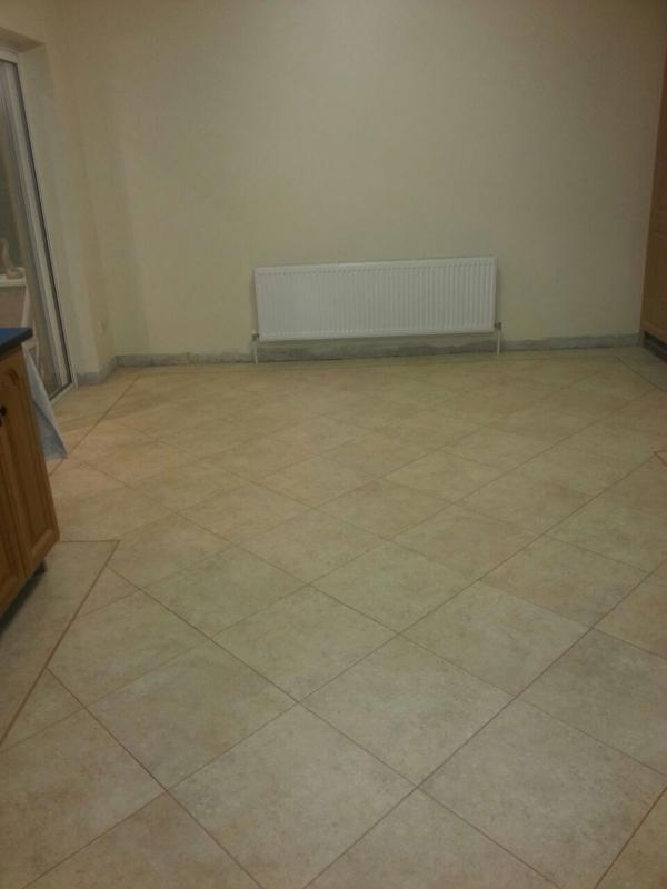 LVT Diagonal Feature Strip in Kitchen